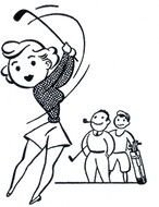 Ladies Golf Clip Art drawing