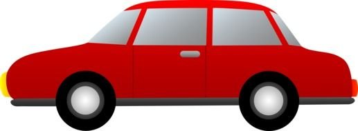 red Cartoon Cars Clip Art