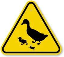 Duck And Duckling sign drawing