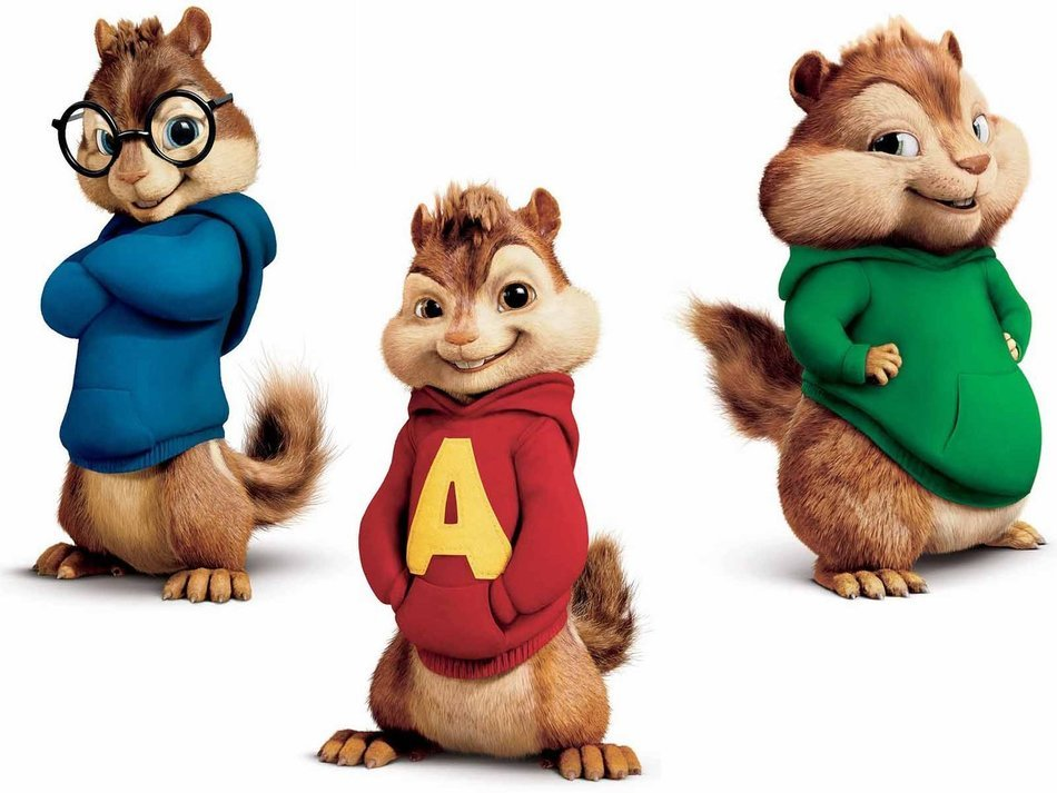 Alvin Simon Theodore Chipmunks drawing