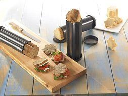 RBV Birkmann Canape Bread Mold Tubular Party Loaf Baking Mold Excellent for Decorated Bread Shapes for Every Occasion