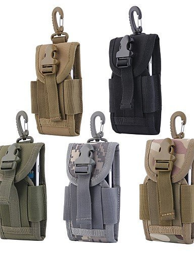 SB@4.5 inch Universal Army Tactical Bag for Mobile Phone Hook Cover Pouch Case , khaki N2