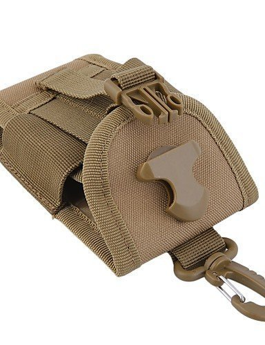 SB@4.5 inch Universal Army Tactical Bag for Mobile Phone Hook Cover Pouch Case , khaki N3