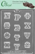 Cybrtrayd Greek Letters Nu Through Omega Chocolate Candy Mold
