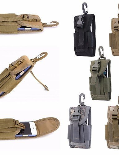SB@4.5 inch Universal Army Tactical Bag for Mobile Phone Hook Cover Pouch Case , khaki N6