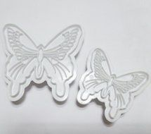 Yunko 2pcs Butterfly Plastic Fondant Cutter Cake Decoration Plunger Embossing Tool Cake Tool