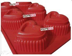 HEARTS Mold Pan for Cupcakes, Muffins, Desserts, Jello. 6 Cavity N2