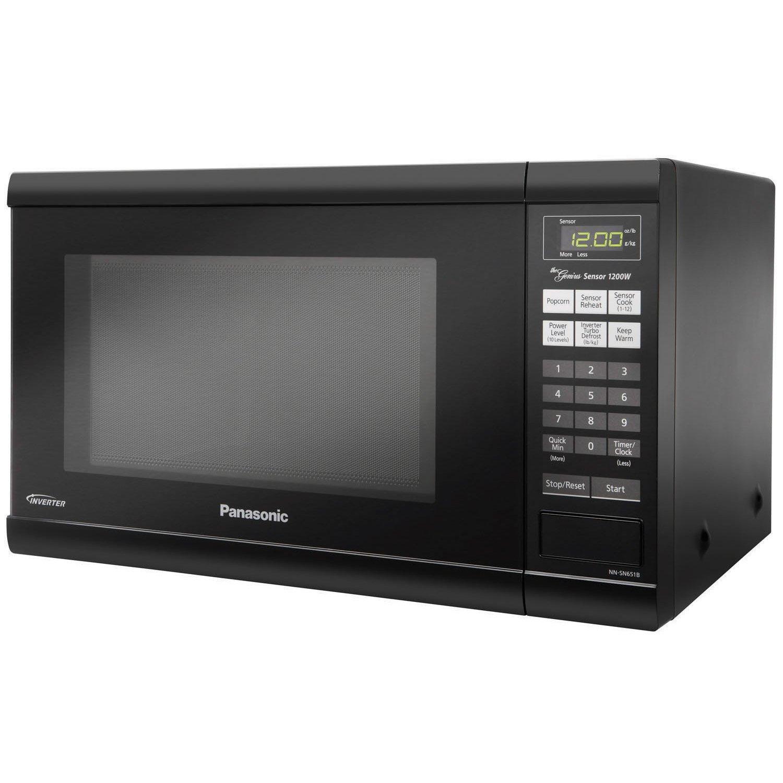Picture of a black microwave, upskirt crotch photosparis