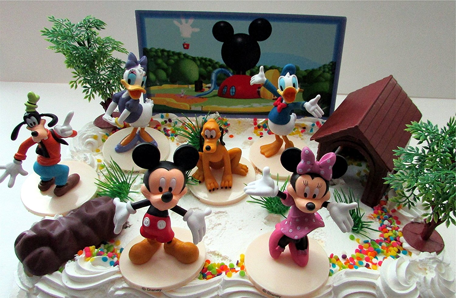Surprising Mickey Mouse Clubhouse Birthday Cake Topper Featuring Mickey Mouse Personalised Birthday Cards Veneteletsinfo