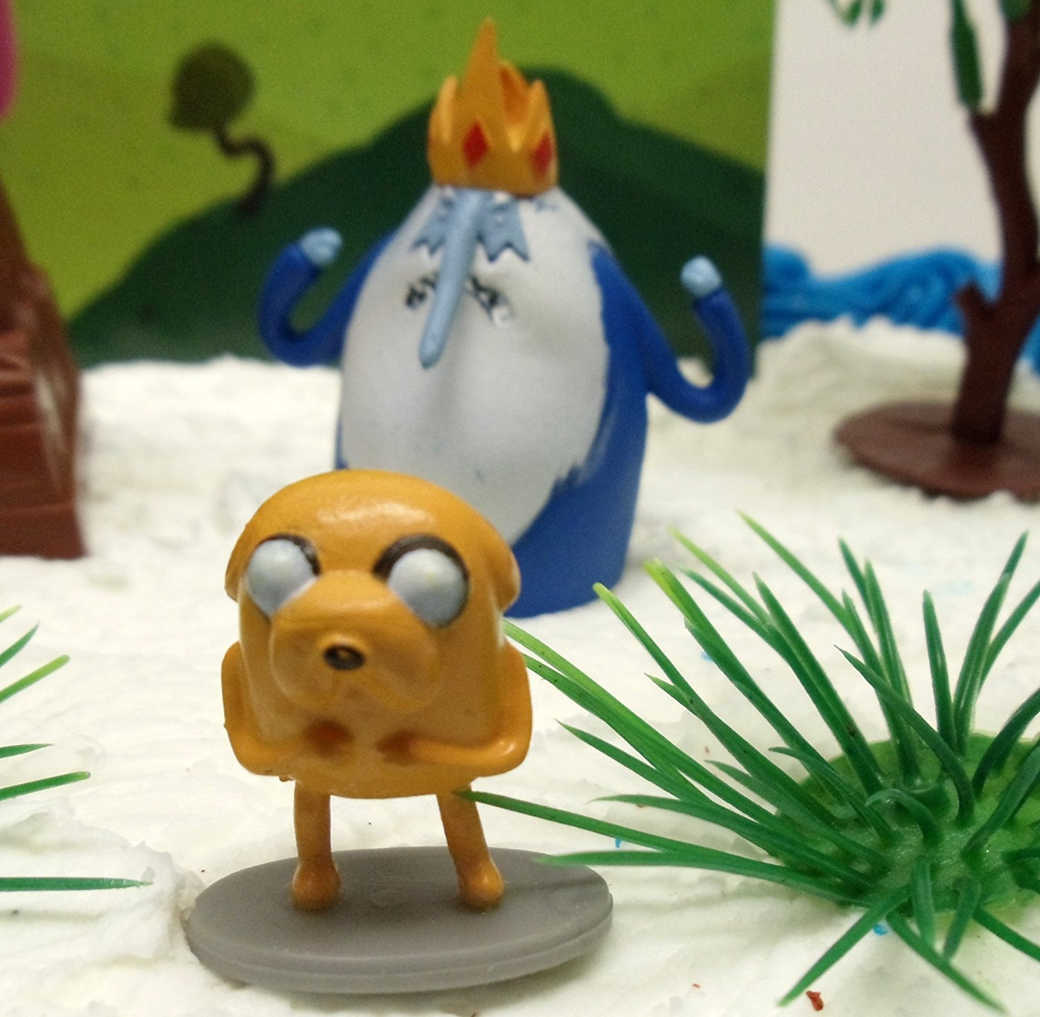 Adventure Time and Regular Show Birthday Cake Topper Set Featuring