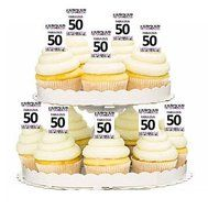 12pack Fabulous 50 50th Birthday Cupcake Decoration Picks N2 Free