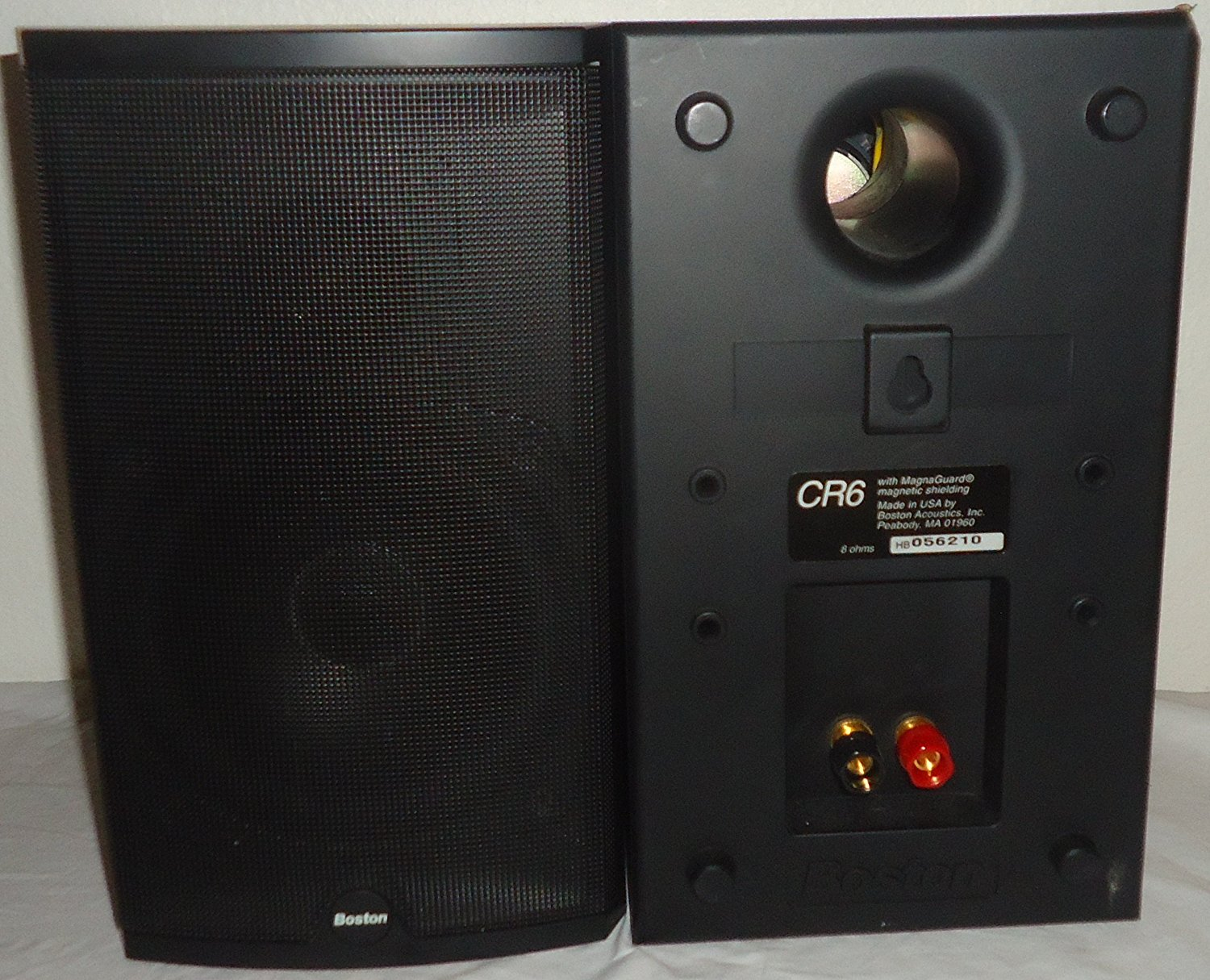 Boston Acoustics CR6 2 Way Driver Max 100 Watt Bookshelf Speakers N2