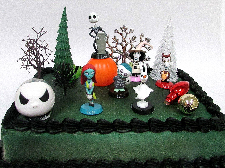 Nightmare Before Christmas 17 Piece Birthday Cake Topper Set