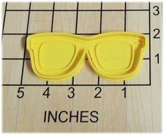 Nerd Beach Sun Glasses Shaped Cookie Cutter and Stamp #1263