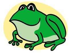 green Frog Clip Art drawing