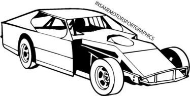 black and white sketch of a sports car