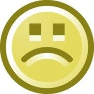 Smiley with Sorry Face, Clip Art