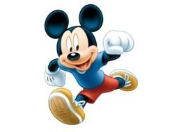 painted running Mickey Mouse