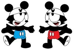 dancing mickey mouse as a graphic illustration
