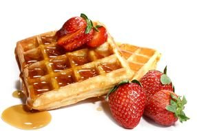 Waffle ad berry drawing