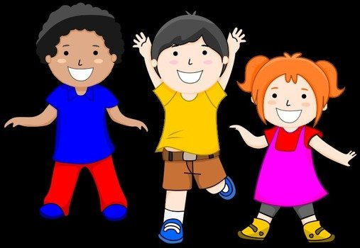 Happy Children Clip Art drawing