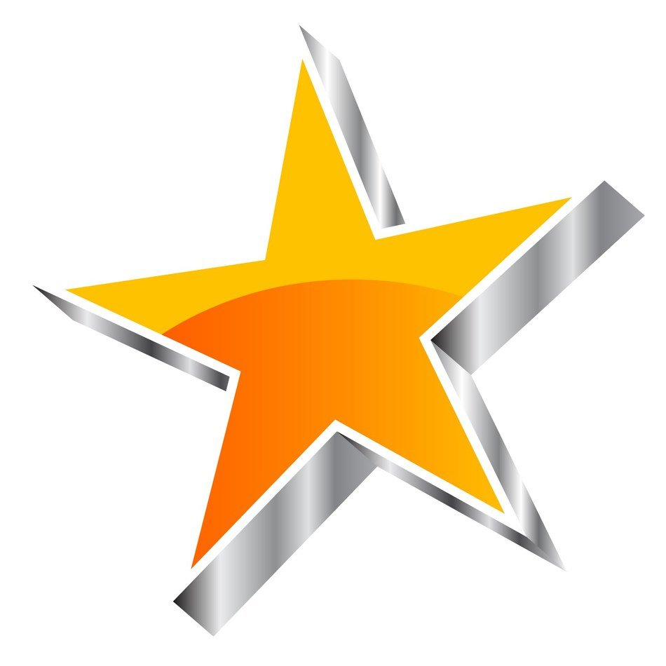 3D colorful star clipart