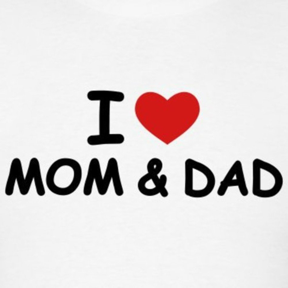 I Love My Mom And Dad Free Image