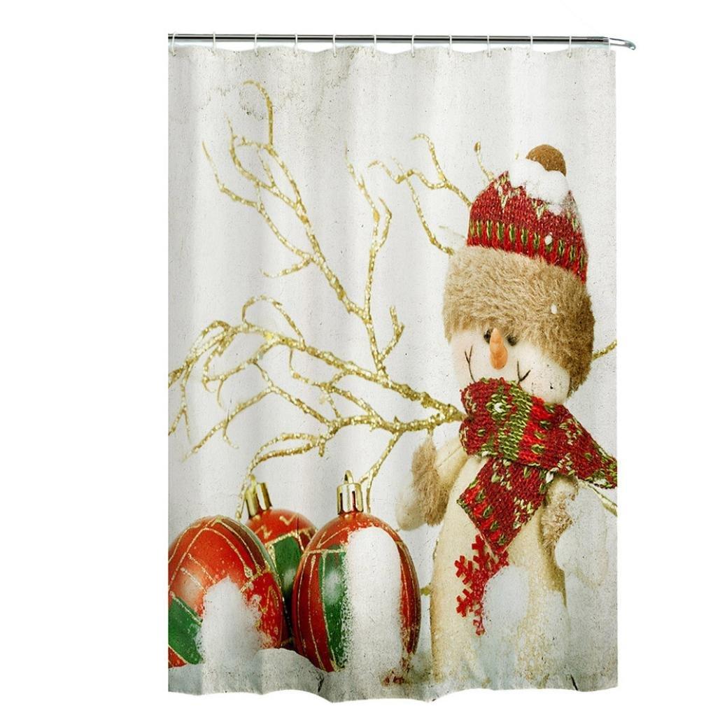 Autumnfall Winter Holiday Snowman Christmas Fabric Shower