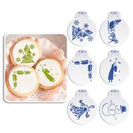 ART Kitchenware 6pcs/set Christmas Decorative Stencil Set for Cookies (Sleigh,Snowman,Holly Leave,Bell ) Fondant...
