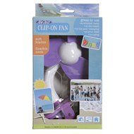 Tee-Zed T01 Clip-On Fan Great for the Beach, Pool, Camping, Work, Lounging or Just Chillin'! -Pink Purple N33