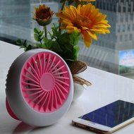 Small Desk Fan,Ladyker 5 Inch Rechargeable Portable Handheld Mini USB Fans for Travelling Camping Car Office Desktop... N33