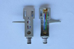 Technics Style Blue Metallic Headshell With OFC Wire Leads Fits Most Turntables