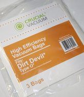 9 Dirt Devil Replacement Allergen Pack Bags Designed To Fit Dirt Devil Type O Tattoo Canister Vacuums, Compare...