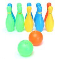 [Free Shipping] 10pcs Set Child Baby Girl Boy Toddler Funny Colorful Bowling Game Toy Two Balls Gift // 10pcs... N3