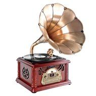 Pyle PTCDCS32BT Retro Vintage Classic Bluetooth Turntable Phonograph Gramophone Record Player, Vinyl-To-MP3 Recording N9