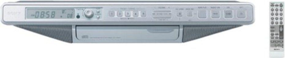 Sony ICF-CDK70 Under Cabinet Kitchen Clock Radio with CD-Changer ...