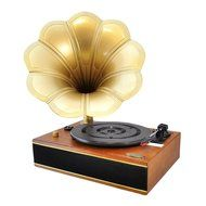 Pyle PNGTT12RBT Vintage Classic Bluetooth Turntable Gramophone Phonograph Vinyl Record Player, Vinyl-To-MP3 Recording N2