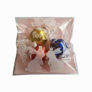 Yunko 300pcs Clear Little Daisies Cookie Candy Soap Packaging Self-adhesive Plastic Bags for Biscuits Package(... N10