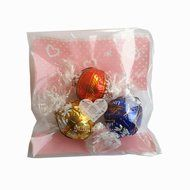 Yunko 300pcs Clear Little Daisies Cookie Candy Soap Packaging Self-adhesive Plastic Bags for Biscuits Package(... N13