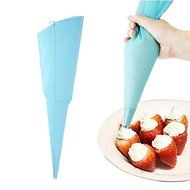 "Crazydeal 13"" Reusable Silicone Icing Piping Cream Pastry Bag Cake DIY Decorating Tool N5"