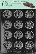 Cybrtrayd F082 Flower Mint Flowers, Fruits and Vegetables Chocolate Candy Mold