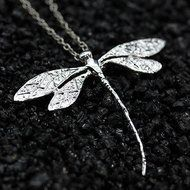 Women Fashion Charms Silver Plated Dragonfly Necklace Pendant N4
