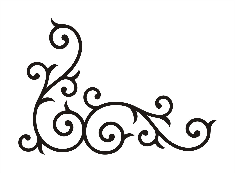 simple swirl clipart - HD1500×1104