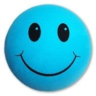 Blue Happy Smiley Face