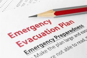 picture of the Emergency Evacuation Plan