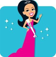 miss beauty as a graphic illustration