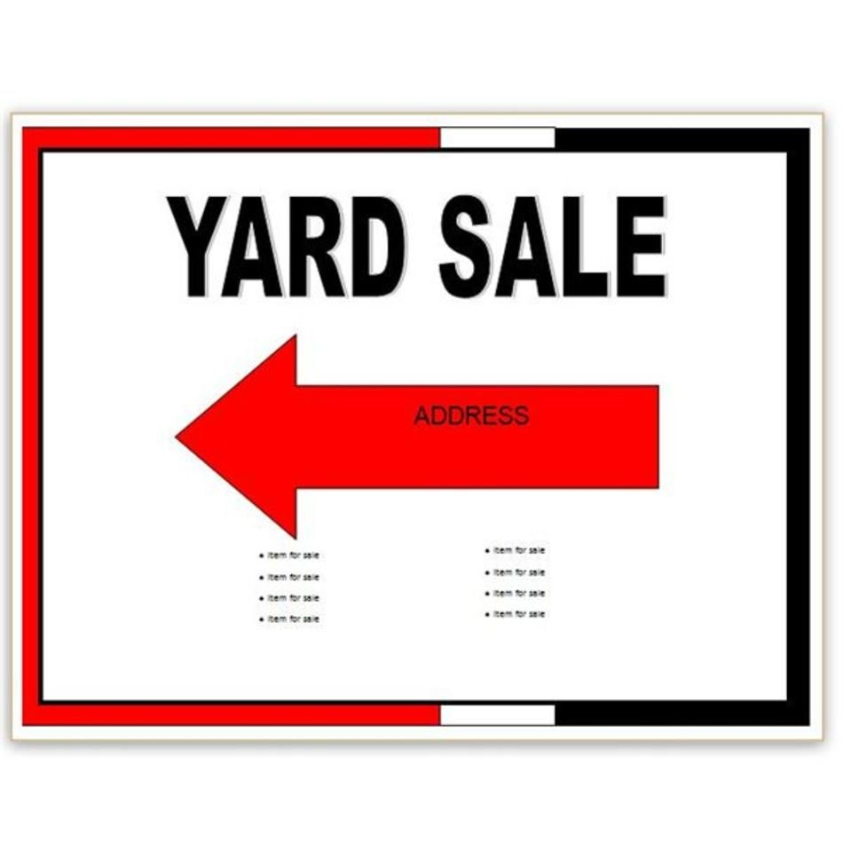 Yard Sale Flyer Template Free Image