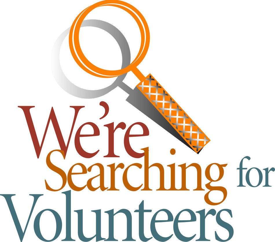 we are searching for Volunteers, banner