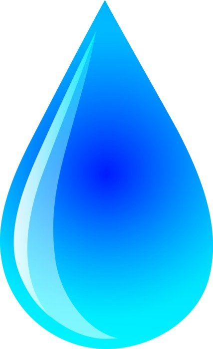 Blue water drop clipart