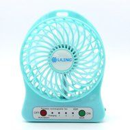 Welltop® 4-inch Electric Portable Mini fan Rechargeable Desktop fan Electric Personal Fan Vanes 3 Speeds Household... N2